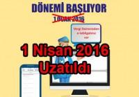 e-tebligat 1 nisan 2016 ya uzatıldı