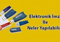 Elektronik imza e-devlet içerisinde kullanıldığı için gerek kamu gereksek özel şirketler arasındaki evrak gönderme ve almaya da yarar