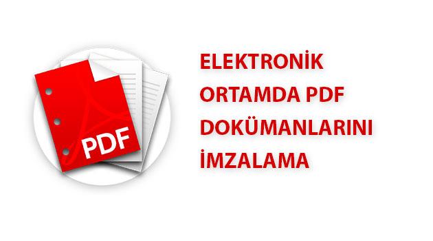 PDF e-imza ile imzalama