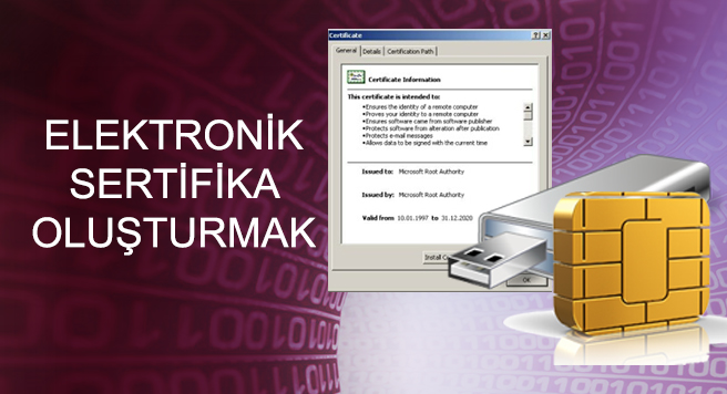 Elektronik Sertifika Oluşturmak